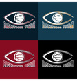 basketball vision design template vector image vector image
