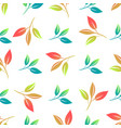 beautiful light delicate leaves seamless pattern vector image vector image