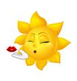 beautiful sun making air kiss vector image