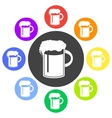beer in mug icon Flat vector image vector image