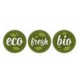 bio eco fresh calligraphic handwriting lettering vector image