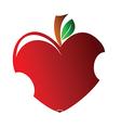 Bitten heart vector image vector image
