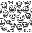 black on white skulls pattern vector image