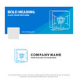 blue business logo template for 3d dimensional vector image