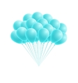 bunch birthday or party blue balloons vector image vector image