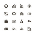 cash - flat icons vector image vector image