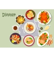 Christmas dinner icon for festive menu design vector image vector image