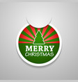 Circle attach merry christmas sticker vector image