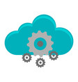 cloud computing and gears vector image vector image