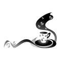 coffee black and white vector image