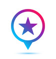 colorful star sign in circle pin icon vector image