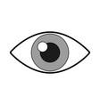 cute eye cartoon vector image vector image