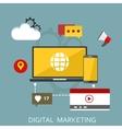 Digital marketing flat vector image