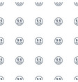 dollar smiley icon pattern seamless white vector image vector image