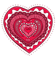 doodle heart vector image vector image