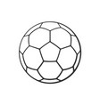 doodle leather soccer ball vector image vector image