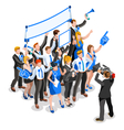 Election News Infographic Party Rally Crowd vector image vector image
