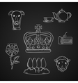 England traditional symbols and icons vector image vector image