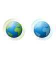 environmental conservation concept with the earth vector image