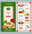 finnish cuisine dishes menu vector image