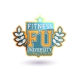 Fitness University vector image vector image