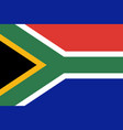 flag of south africa in official rate and colors vector image vector image