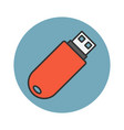 flash drive flat line icon vector image vector image