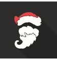 Flat Design Santa Claus Face with beard and vector image vector image