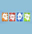 flyer 3d balls polygons cover color art vector image vector image