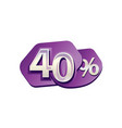 forty percent vector image