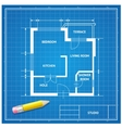 furniture architect blueprint background vector image