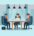 group of business characters people in office vector image vector image