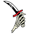 hand bone hold a dagger vector image vector image
