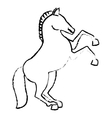 horse icon image vector image vector image