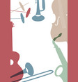 Jazz poster set of musical instruments typical of