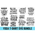 keep calm and doo yoga hand drawn lettering phras vector image vector image