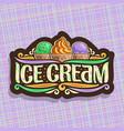 logo italian ice cream vector image