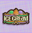 logo of italian ice cream vector image vector image