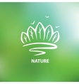 Logo with the image of trees and forests vector image vector image