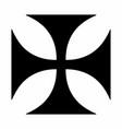 maltese cross dark silhouette vector image vector image