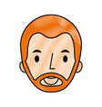 man young face character profile vector image vector image
