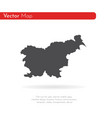 map slovenia isolated black vector image