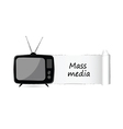 mass media icon vector image vector image