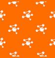molecule molecular pattern orange vector image vector image