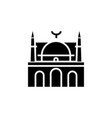 mosque facade - arabic temple church icon vector image vector image