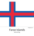 National flag of Faroe Islands with correct vector image
