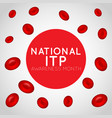national itp awareness month logo icon vector image vector image