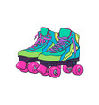 pair of vintage retro quad roller skates sketch vector image