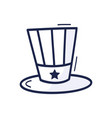 patriotic american top hat icon drawn hand in vector image