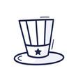 patriotic american top hat icon drawn hand vector image